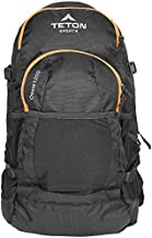 TETON Sports Oasis 1200 Hydration Pack; Free 3-Liter Hydration Bladder; For Backpacking, Hiking, Running, Cycling, and Climbing , Black, 12 x 9.5-Inch
