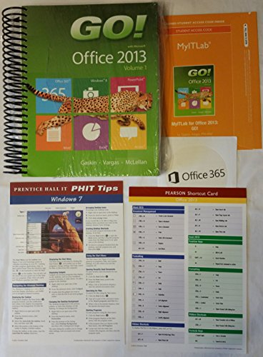 Go! with Office 2013 Volume 1 & Prentice Hall Office 2013 Shortcut Card & Myitlab -- Access Card -- For Go! with Office 2013 Volume 1 & Office 365 Hom