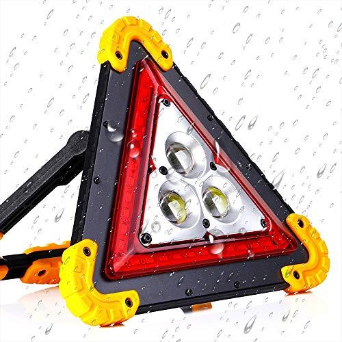 Warndreieck Auto USB Tragbare LED COB Arbeitslicht, 50W wasserdichte Outdoor-Notleuchte Scheinwerfer Auto Fahrzeugwartung Ausfall Warnleuchten Camping Lampe Griff Taschenlampe