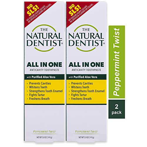 Natural Dentist All In One Sulfate-Free Toothpaste, Peppermint, 5 Ounce Tube (Pack of 2)