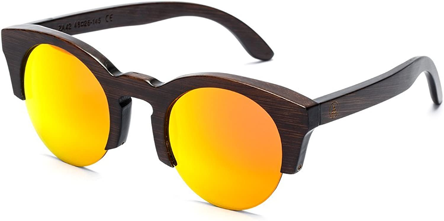 Cat Eye Polarized Bamboo Sunglasses by Tree Tribe  Natural Frames, Hard Case