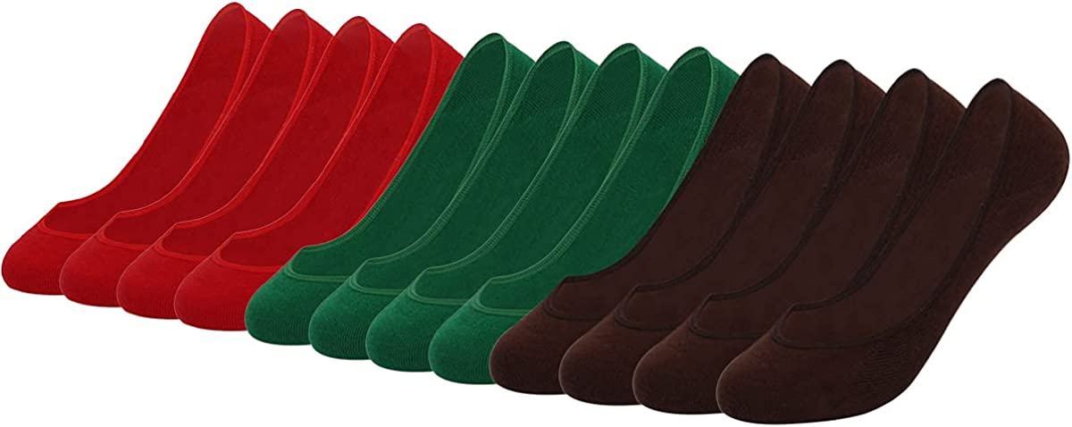 LEPUTA No Show Socks Women Seamless Low Socks Cut Flat Boat Line 6/9/12 Pairs