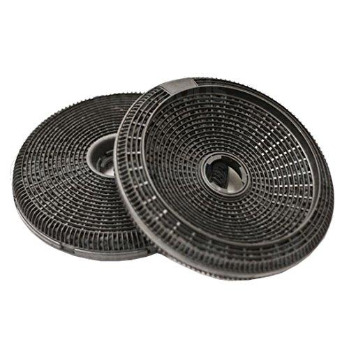 Spares2go Carbone filtre à charbon pour Hygena App2339App2400App2403App2410App2410hotte ventilateur d extraction d air Grille d aération (2x 190mm filtres)