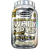 MuscleTech Premium Gold 100% Whey Protein Powder, Whey Protein Isolate & Peptides Shake for Men and Women, 24 Grams of Protein, 5.5g BCAAs, Easy to Mix, Vanilla Ice Cream, 2.2 Pounds (30 Servings)