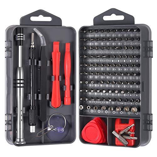 115 in 1 Schraubenzieher Bitsatz Schraubendreher Set Screwdriver Repair Tool Kit Werkzeug Torx Bit Feinmechaniker Handwerkzeuge 98 Bits für Phone,MacBook,Smartphone,PC,Laptop,Brillen,Uhren