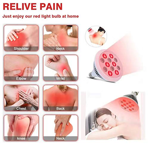 GJNWRQCY Led-lichttherapie infrarood lampen pijnverlichting massage lichaam schouder terug verwarming lamp-peren fysiotherapie