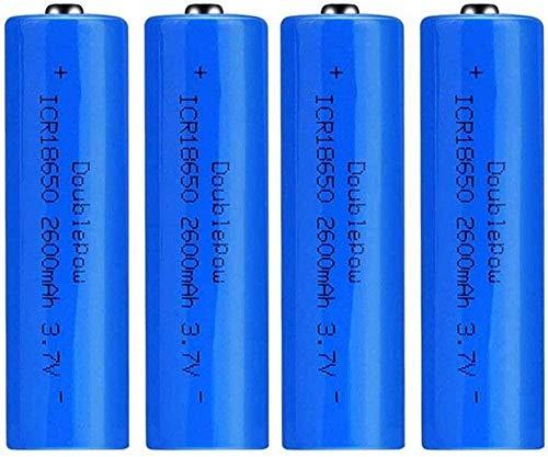 Baterías Recargables 18650 Batería de Iones de Litio 3 7V 2600mah Capacidad Baterías de Litio Recargables Celdas D Timbre acumulador Linterna Antorcha (Puntiaguda)