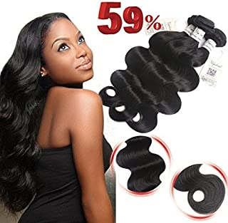 Voguetrend Brazilian Hair Body Wave 3 Bundles Brazilian Virgin Hair Body Wave Virgin Remy Human Hair Bundles 100% Human Hair Extensions Natural Color Soft (12 14 16)