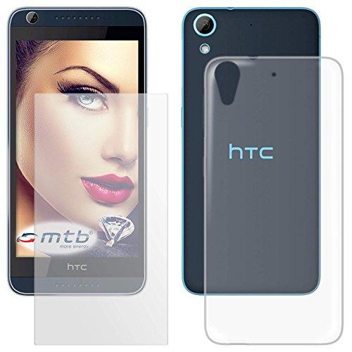 mtb more energy® Schutzglas & Schutzhülle für HTC Desire 626 / 626G+ / 626G Dual SIM (5.0'') | transparent | Tempered Glass Glasschutz TPU Hülle