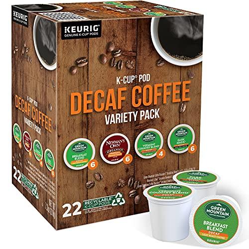 Keurig Green Mountain Coffee Roasters Decaf Coffee Variety Pack, Single-Serve Keurig K-Cup Pods, 22 Count