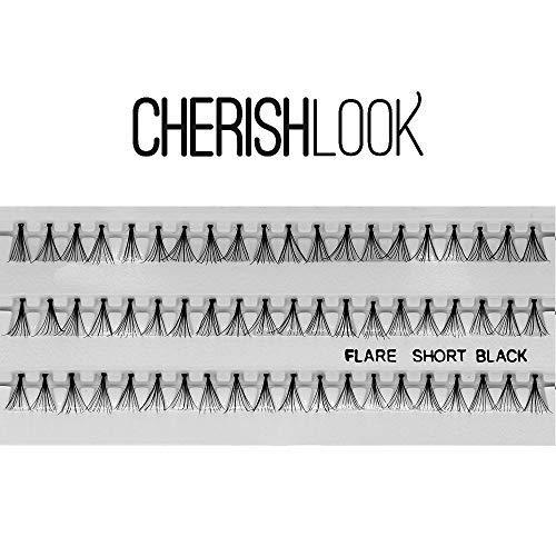 Cherishlook Professional 10packs Eyelashes - Flare Short Black by Cherishlook