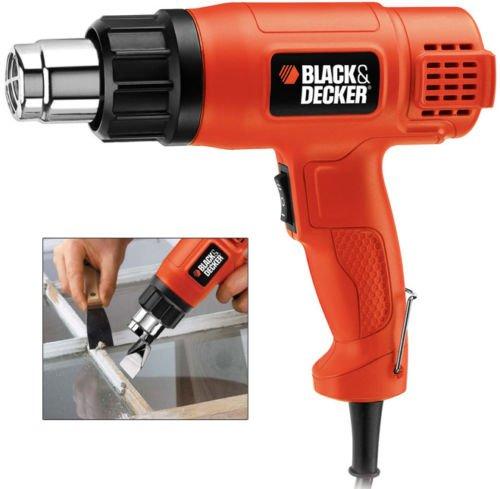 Black+Decker 1750W Corded 2 Mode Heat Gun for Stripping Paint, Varnishes & Adhesives, Orange/Black - KX1650-B5, 2 Years Warranty
