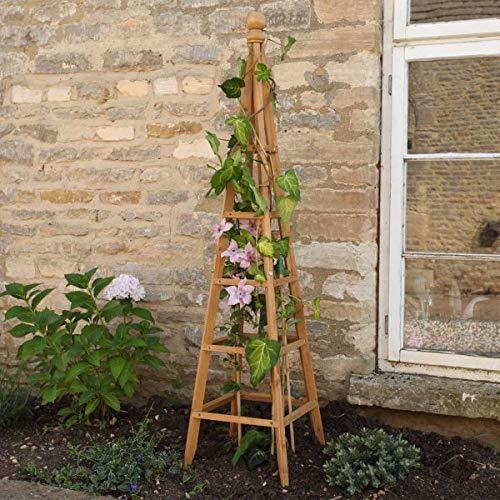 Garden Mile® Obelisk für den Garten, robust, robust, röhrenförmig, für Rosen, Kletterpflanzen, Stützstruktur, Gartendekoration