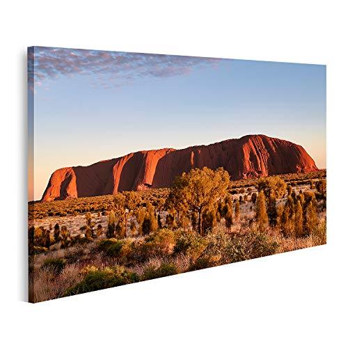 Bild auf Leinwand Uluru Ayers Rock Australia Bilder Wandbild Poster Leinwandbild
