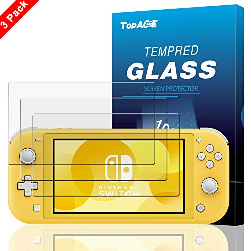 TopACE Vetro Temperato Nintendo Switch Lite,HD-Clear 9H Resistenza Anti-Olio Resistente ai Graffi Screen Protector Schermo in Pellicola Protettiva per Nintendo Switch Lite(Transparent)