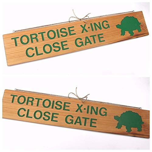 TORTOISE X-ING Close Gate, Tortoise Crossing Sign, Tortoise Cutout, Gate Marker, Animal Sign, Reptile Marker, Warning Sign, Custom Marker, Turtle Sign, Turtle Cutout, Turtle, Turtle X-Ing