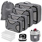 DIMJ 10 stück Kleidertaschen, Koffer Organizer Set für Kleidung, Schuhe, Unterwäsche, Kosmetik,Datenkabel und andere Zubehör