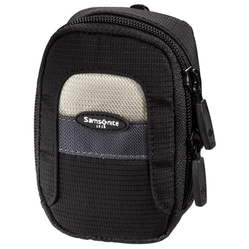 Samsonite Corsica 30G Camera Bag, black/beige - Funda (black/beige, Nylon, Negro, 75g, 60 x 25 x 90 mm)