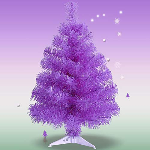 ZZFF 3ft Purple Small Christmas Tree,Multicolored Artificial Christmas Tree,PVC Fir Tree,Lightweight Tabletop Xmas Tree With Stand For Small Place Holiday Decor-Purple 90cm/3ft
