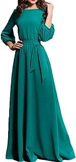 DEATU Women's Maxi Dress , Boho Comfy Long Sleeve Evening Beach Long Dress