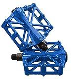 "JJOnlineStore–Un par/2PCS Ultralight aluminio Plataforma Plana Pedales para bicicleta MTB BMX bicicleta de montaña ciclismo Racing Izquierda derecho Pedal Axle 9""/16pulgadas (Azul)"