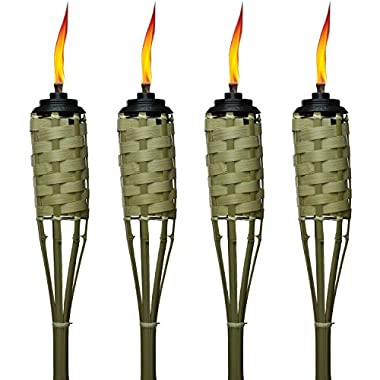 Tiki Brand 57-Inch Luau Bamboo Torches - 4 pack