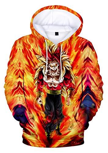 HUASON Sudadera con Capucha para Niños Dragon Ball Ropa Deporte Impresión de Anime 3D Son Goku Super Series Pullover