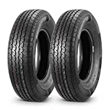 MaxAuto Radial Trailer Tires 205/75R14 ST20575R14 8 Ply Load Range D,Set of 2