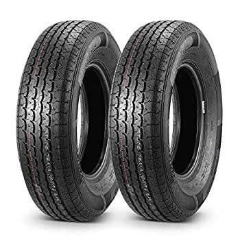 MaxAuto 2 Pcs Radial Trailer Tires ST20575R14 8 Ply Load Range D