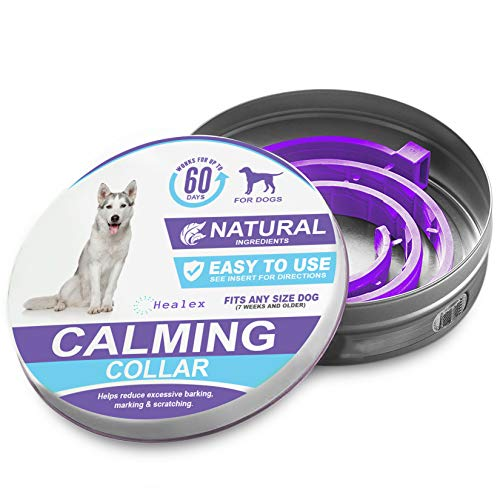 Healex Dog Calming Collar for Dogs | A Paw-FECT Dog-Calming Aid | Anxiety Relief for Dogs and Hounds Calming Dog Collar for Your Canine Pet | 2-Month Protection, 1 Collar