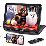Naviskauto lettore dvd portatile grande schermo da 15.6 pollici,bosra dotata, supporta HDMI,autonomia da 5 ore,USB/1080P/ TF/AV IN/OUT/region free,18 mesi di garanzia,per bambini