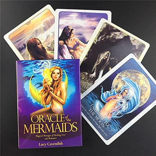 FEZD Oracle Der Meerjungfrauen, Mysteriöses Fat-Weissagung Tarot-Deck, Gesellschaftsspiele Mit Kinder-Spaß-Spielführer (Tasche, Tischdecke)