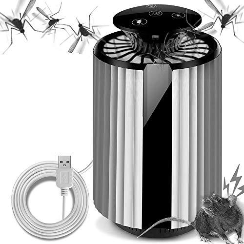 Eléctrico del asesino del mosquito, asesino del mosquito, Bionic del cuerpo humano físico USB atrae a los mosquitos repelente de mosquitos Segura Apto para niños de mujeres embarazadas interior,Blanco