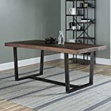 Walker Edison Andre Modern Solid Wood Dining Table, 72 Inch, Mahogany
