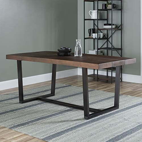 Walker Edison 6 Person Rustic Farmhouse Wood and Metal Room