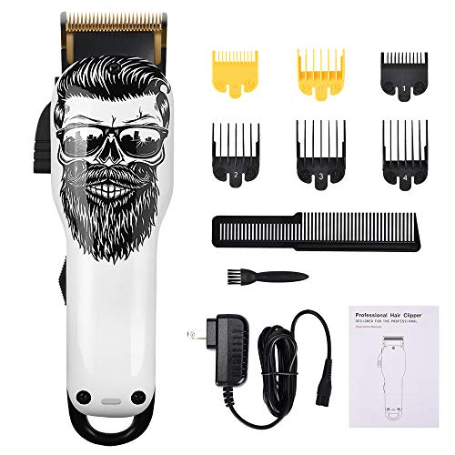 Upgraded Cordless Electric Mens Hair Clippers 2-Speed Professional Rechargeable Hair Cutting Machine for Men Kids Baby Barber Grooming Cutter Kit Low Noise Clippers 2000mAh Pet Clipper Grooming Kit