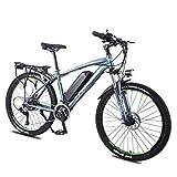 LZMXMYS Bicicleta eléctrica, E-bici bicicleta de montaña bicicleta eléctrica con el sistema de 27 velocidades de transmisión, 350W, 13Ah, 36V de litio-ion, 26' pulgadas, Pedelec City Bike Ligera urban