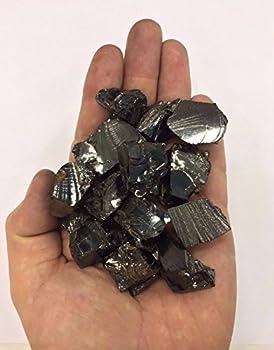 Elite Shungite Stone 100 gr/0,22 lb for Water  5-10 gr per Stone  Noble Shungite Stones Silver