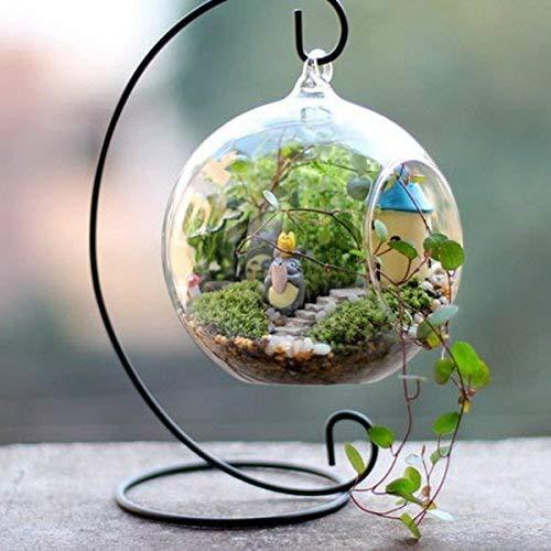 Porta candele in ferro Seguryy, utile per appendere sfere in vetro Black-5pcs