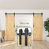 ZEKOO 10 FT Antique Style Rolling Sliding Barn Door Hardware Kit Use for Sale Building