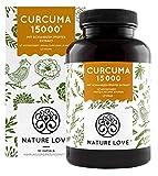 NATURE LOVE® Curcuma Extrakt - Laborgeprüft, vegan