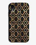 Coque pour Huawei P20 Motif géométrique Doré/noir