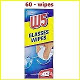 60 Salviette detergenti W5 Adatto per pulire gli occhiali, macchine fotografiche, binocoli, specchi auto, visiere, schermi di computer, televisori, telefoni cellulari iPhone Android