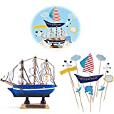 Jixista Decoraciones para Pasteles Cumpleaños Cupcake Topper Set Decoraciones de Pasteles cumpleaños 12 Piezas para la Fiesta de la Fiesta de Bienvenida al bebé cumpleaños niñas Niños