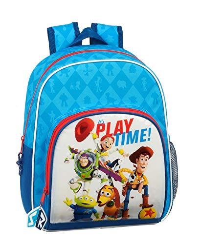Safta 612031609 Mochila pequeña niña Adaptable Carro Toy Story  Azul