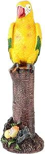 Jeffergarden Simulazione pappagalli Esterno Resina Interna Decorazione Statua Scultura Paesaggio per la casa Patio Prato Ornamenti da Giardino