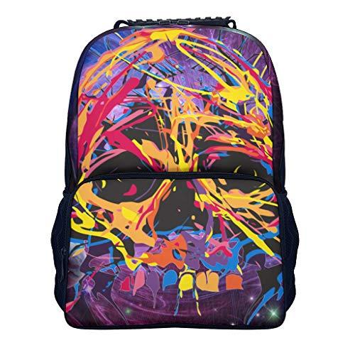 Shaoziyun Damesrugzak, graffiti, schedel coole schoolrugzak jongens basisschool schooltas tiener dagrugzak laptop