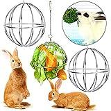 Bola de Heno LLMMZD Bola Comedero Conejo para Conejos, cobayas, hámsteres,...