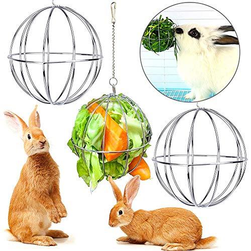 LLMZ Kaninchenspielzeug LLMMZDEdelstahl Feeder Spielzeug für Hase Meerschweinchen Kaninchen Chinchillas Hamster