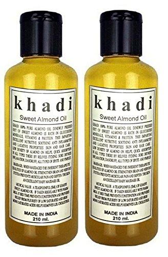 Khadi Herbal Sweet Almond Oil (420ml)